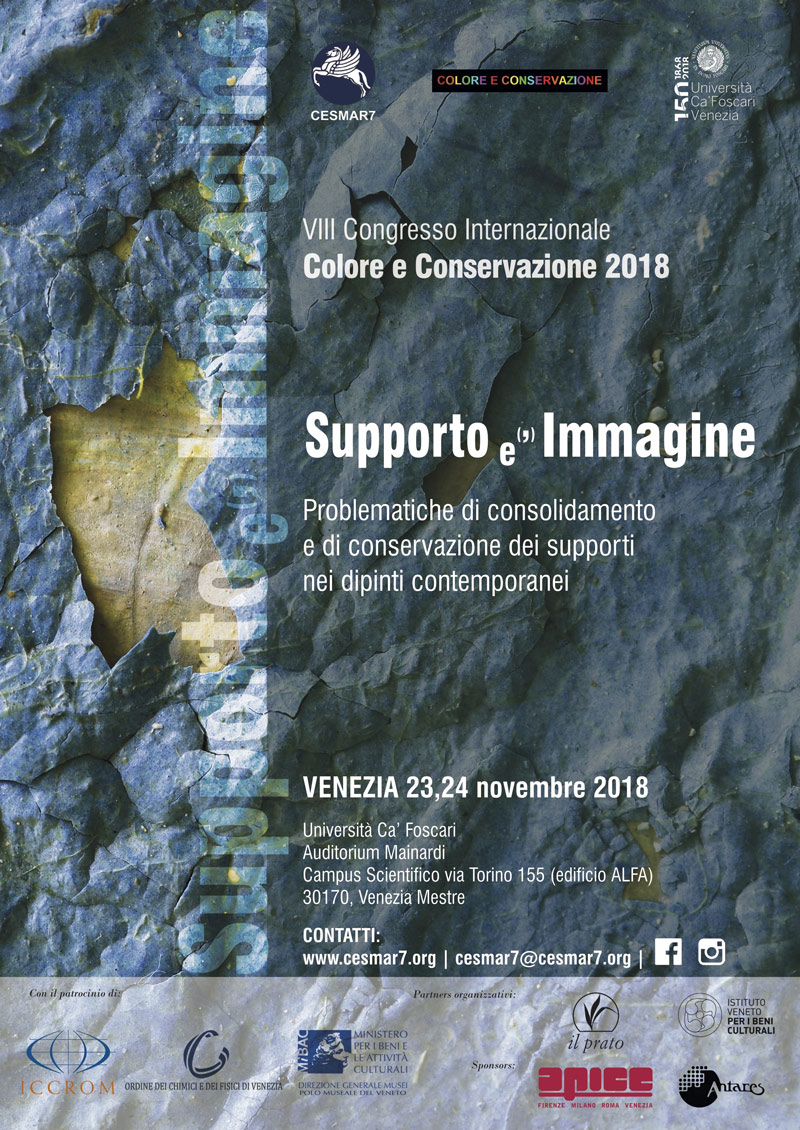 International Congress COLORE E CONSERVAZIONE 2018 – SUPPORT (the) IMAGE