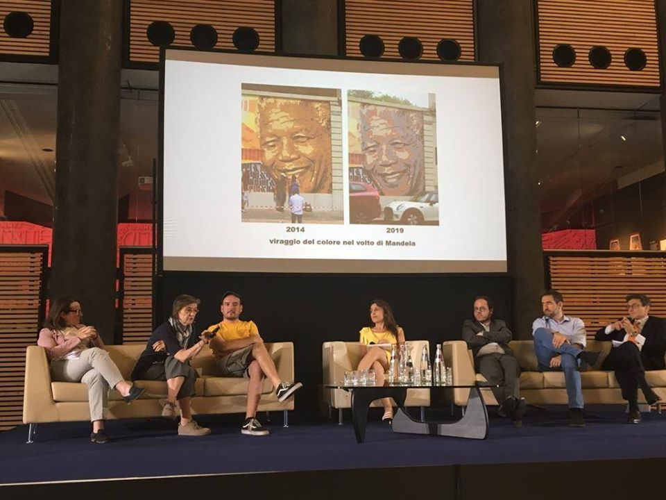 "Presentation of the CAPuS project at the conference ""Street art. Writers tra diritto e mercato"" in Milan, Italy"