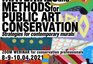 "13100Webinar ""Materials and Methods for Public Art Conservation. Strategies for contemporary murals"""