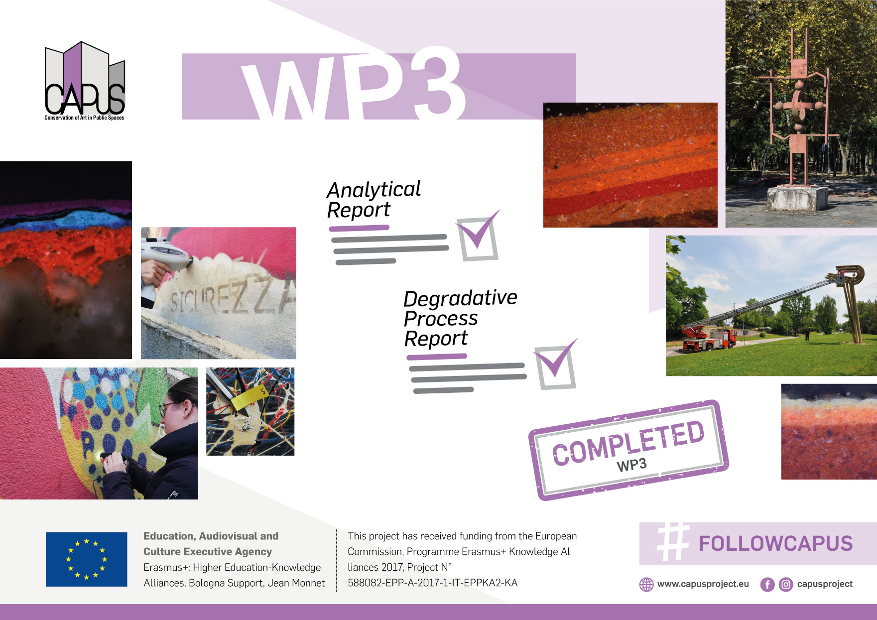 Work Package 3 (Analytical characterisation of the selected artworks): Final Report
